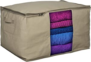 Clothes Storage Bag Organizer with Moth Protection – Cedar Insert to Protect from Moth, Insects, Moist etc.- Extra Large – Perfect for Storing Pillows, Comforter, Clothes, Bedding, Blanket, More – 24