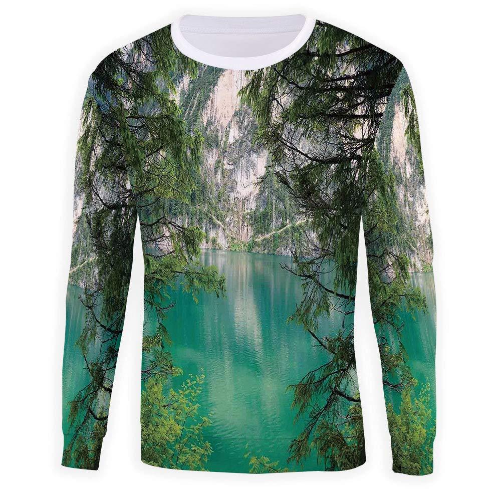MOOCOM Unisex Green Sweatshirts Crewneck