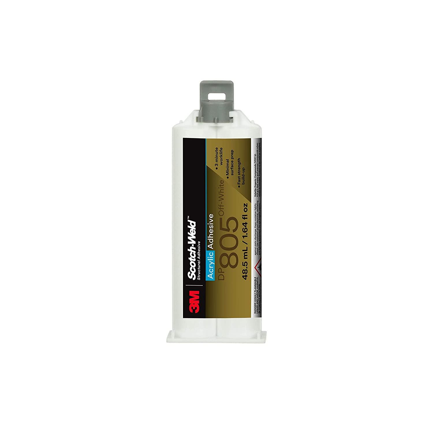 3M Scotch-Weld 08982 Acrylic Adhesive DP805 Off-47 mL, 12 per case, DP805, White