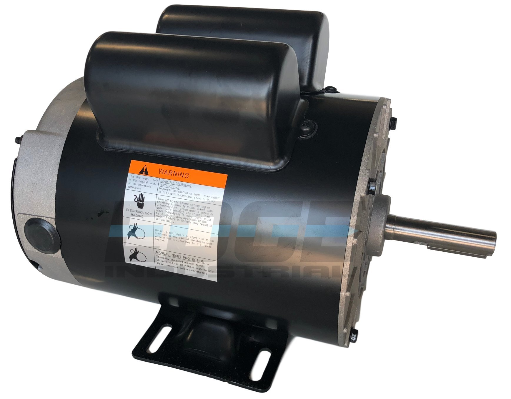 NEW 2 HP SPL Compressor Duty Electric Motor, 3450 RPM, 56 Frame, 5/8'' Shaft Diameter,120/240 VOLT by EDGE INDUSTRIAL EMZ (Image #3)