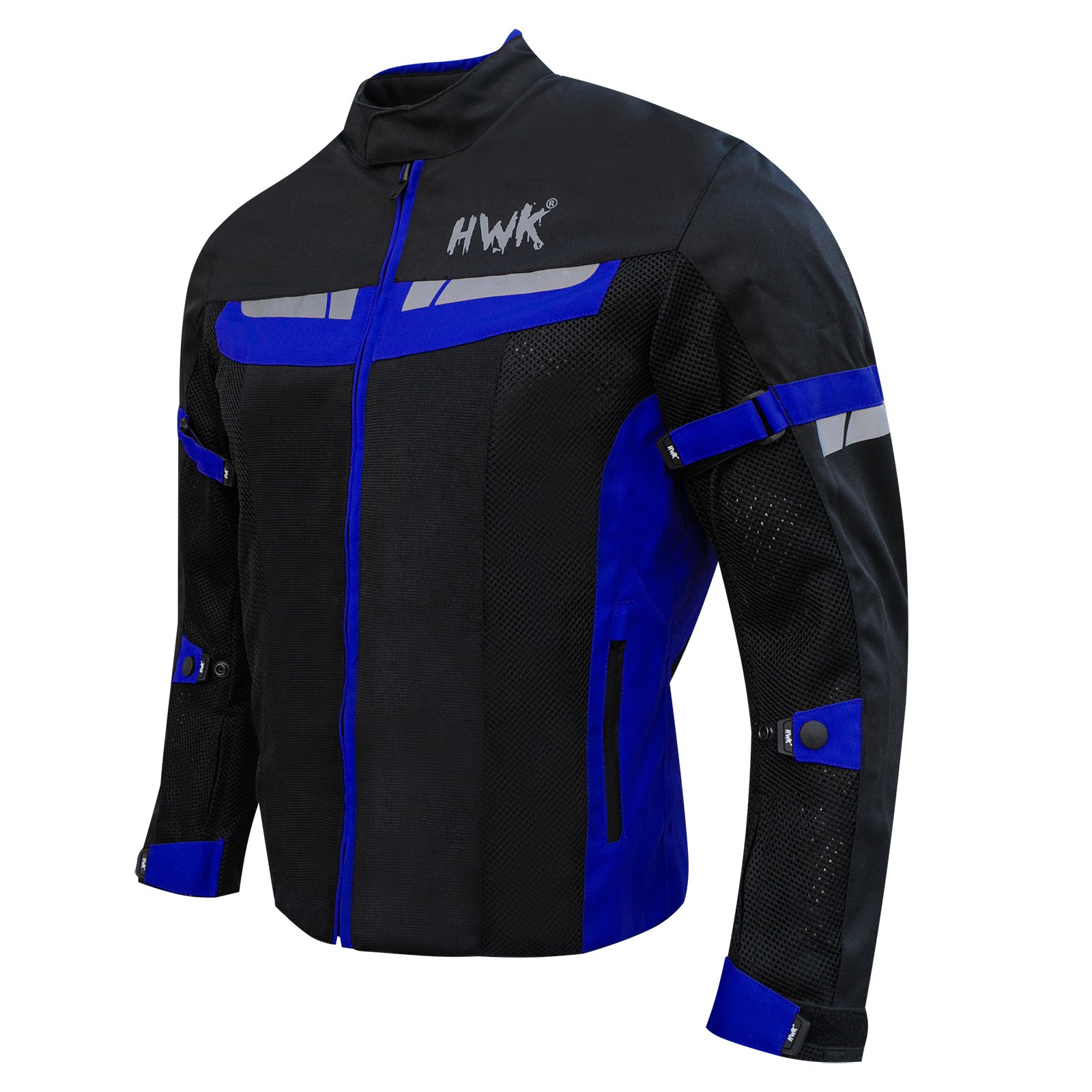 HWK Mesh Motorcycle Jacket Riding Air Motorbike Jacket Biker CE Armored Breathable (Small, Blue) by HHR (Image #2)