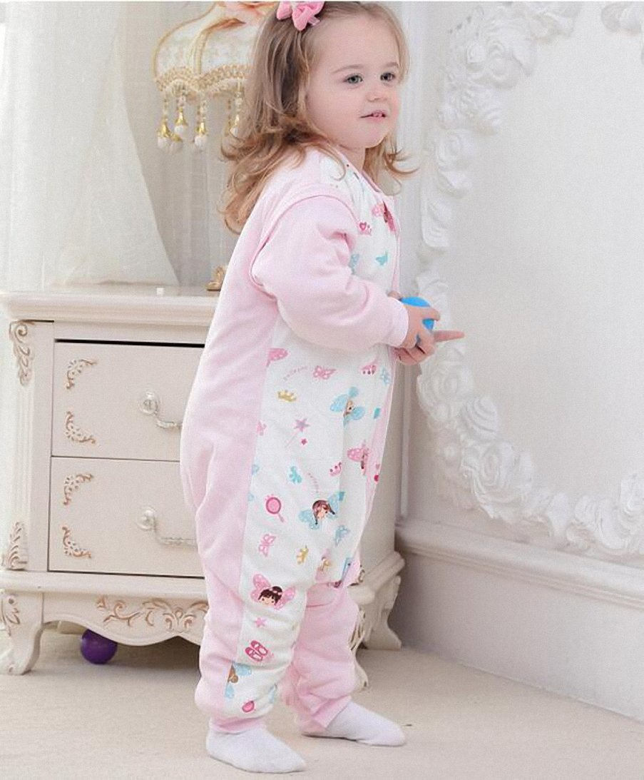 cc4ba771b6 Bebé Saco de dormir con mangas largas con patas Pijama de invierno de baumwollen  Niño y Niña Pijama Mono strampler. con grueso para 1 - 5 años. rosa Rosa ...