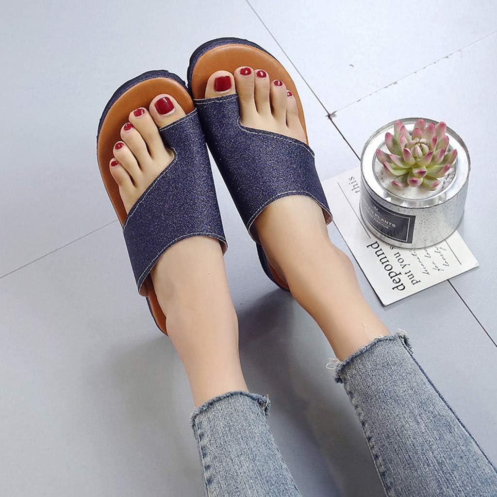 Ouneed Frauen Plattform Sandale Pailletten Schuhe Mit Bunion Splints Damen Sommer Strand Reise Schuhe Big Toe Hallux Valgus Unterstützung Plattform