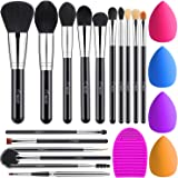 BESTOPE Makeup Brushes 16PCs Makeup Brushes Set with 4PCs Makeup Blender Sponge and 1 Brush Cleaner Premium Synthetic Foundat