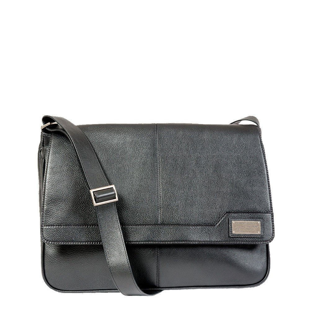 Competitor Leather Padded Laptop Business Messenger Bag