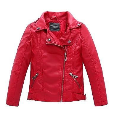 ed42e25d9 Amazon.com  LJYH Children s Collar Motorcycle Leather Coat Boys Faux ...