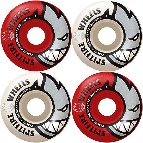 Spitfire Bighead 99du Mash Ups Wheels Red//White 52mm