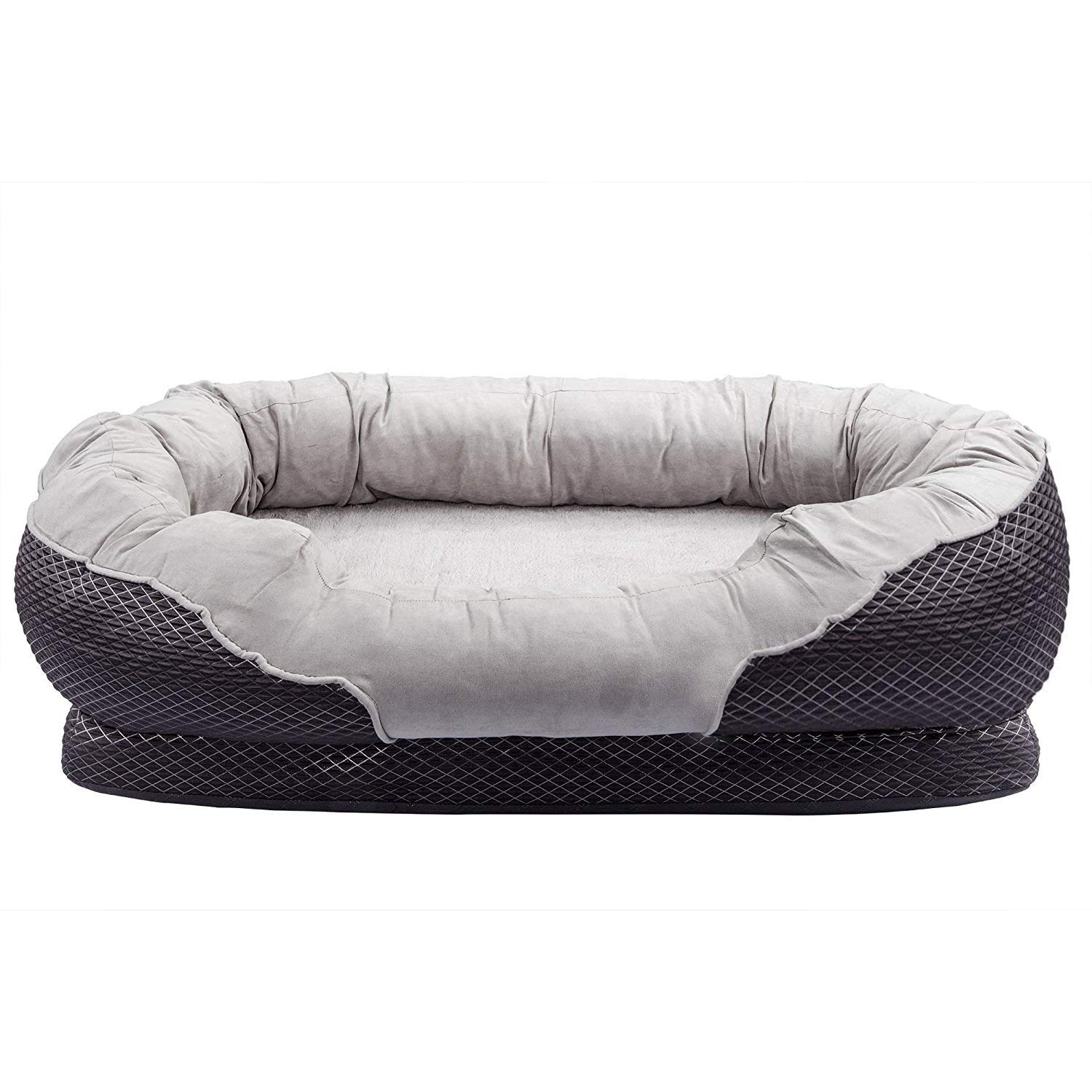 AsFrost Dog Bed, Orthopedic Dog Beds with Removable Washable Cover, Memory Foam Pet Bed for Dogs Cats, Nonslip Bottom Pet Beds for Sleep