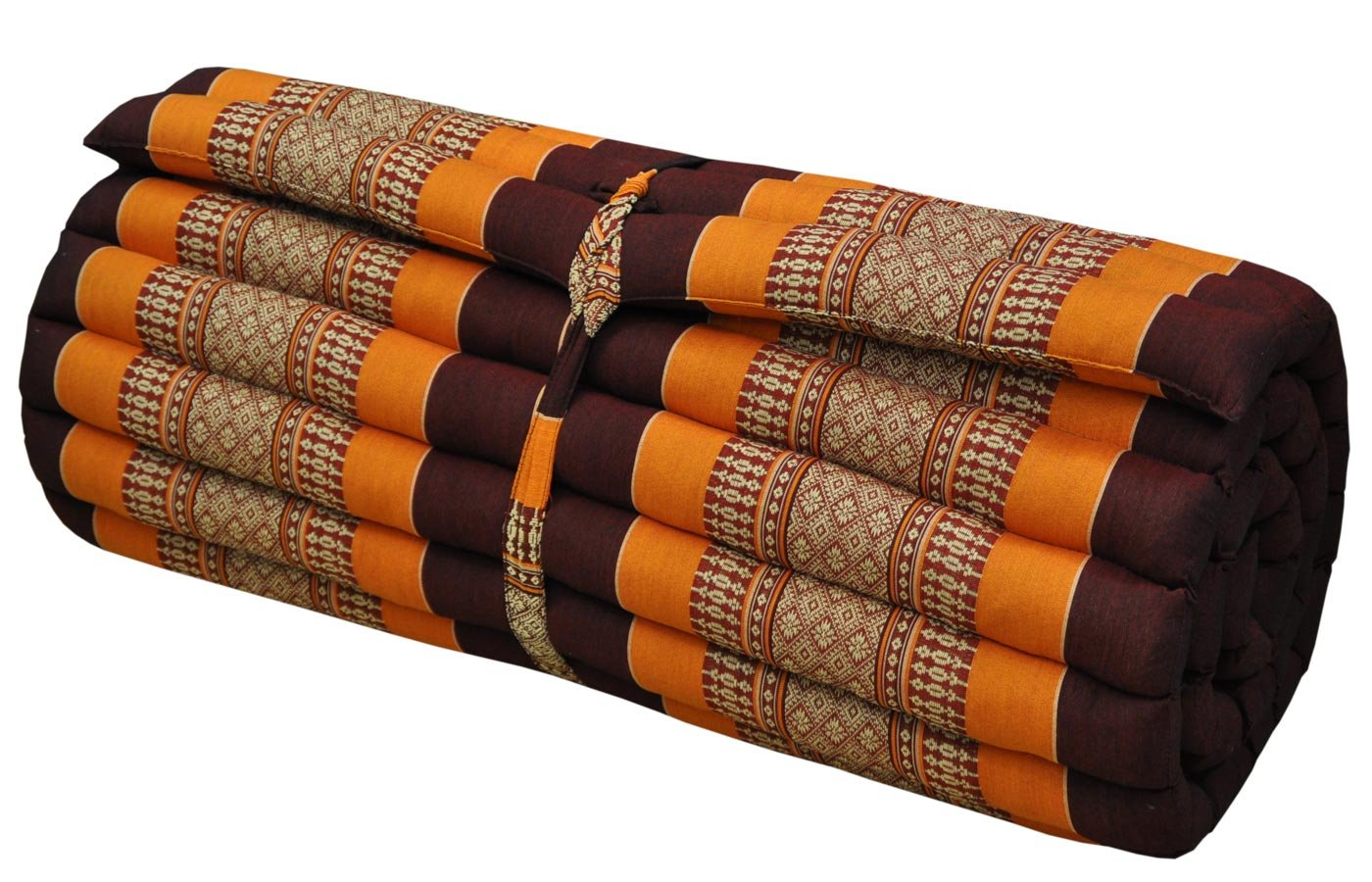 Thai mattress big size (75/180),brown/orange, relaxation, beach cushion, pool, meditation, yoga (81114)