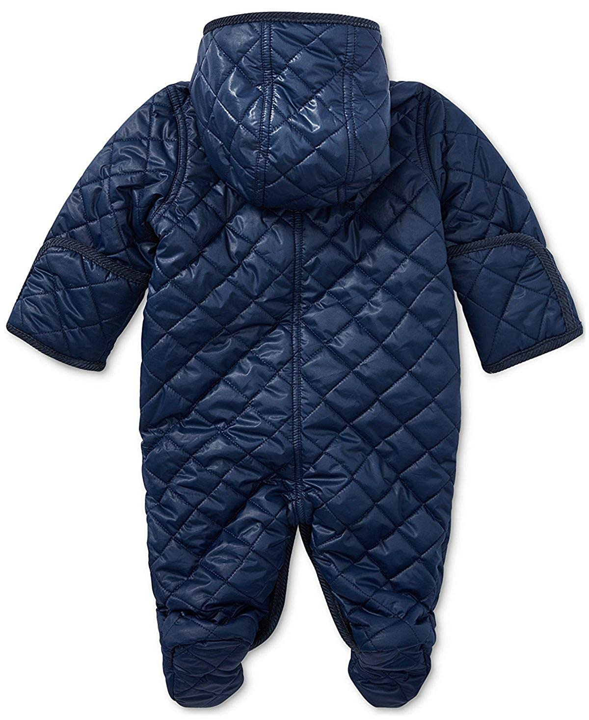 23c7a9fb6 Ralph Lauren Baby Boy Quilted Bunting 6 Months French Navy: Amazon.ca:  Clothing & Accessories