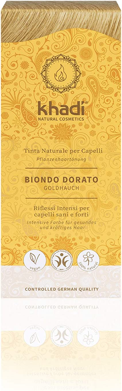 Khadi - Tinte vegetal en polvo rubio dorado, 100 g: Amazon.es ...