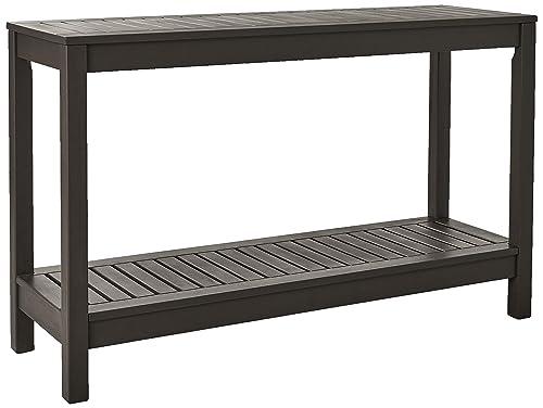 Cambridge-Casual Solid Hardwood Alfresco Outdoor Console Table, Dark Grey