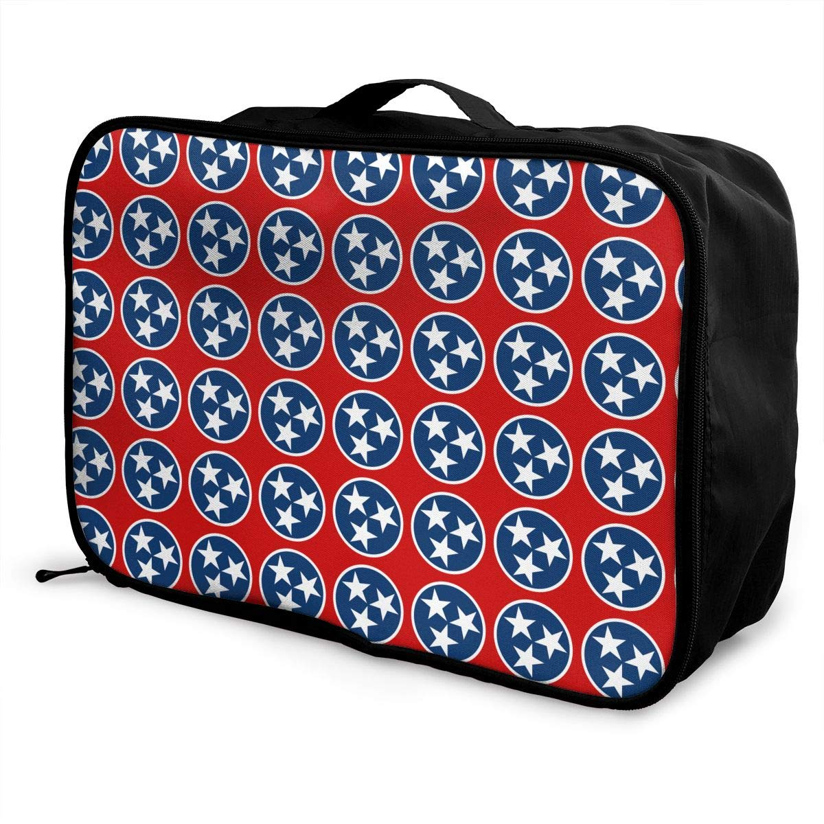 Lightweight Large Capacity Duffel Portable Luggage Bag Tennessee State Flag Travel Waterproof Foldable Storage Carry Tote Bag