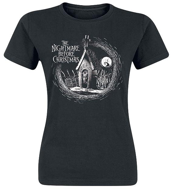 Pesadilla Antes De Navidad Zero Camiseta Negro: Amazon.es: Ropa y accesorios
