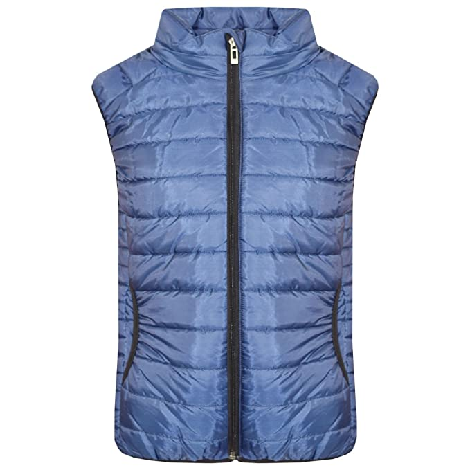 A2Z 4 Kids/® Kids Girls Boys Designers Baby Pink Sleeveless Hooded Padded Quilted Puffer Bubble Gilet Bodywarmer Jackets 5 6 7 8 9 10 11 12 13 Years