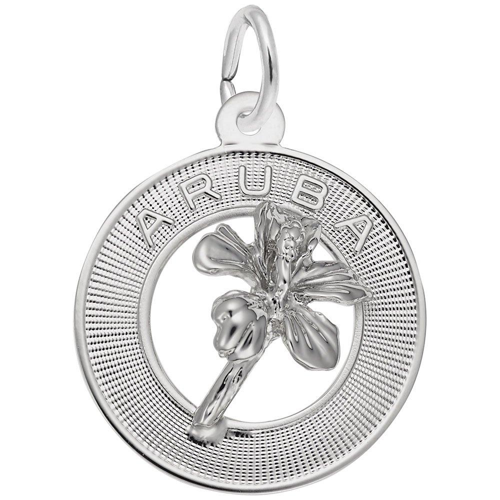 Arubaチャーム、チャームブレスレットとネックレス用  純銀 B076DH3BVS