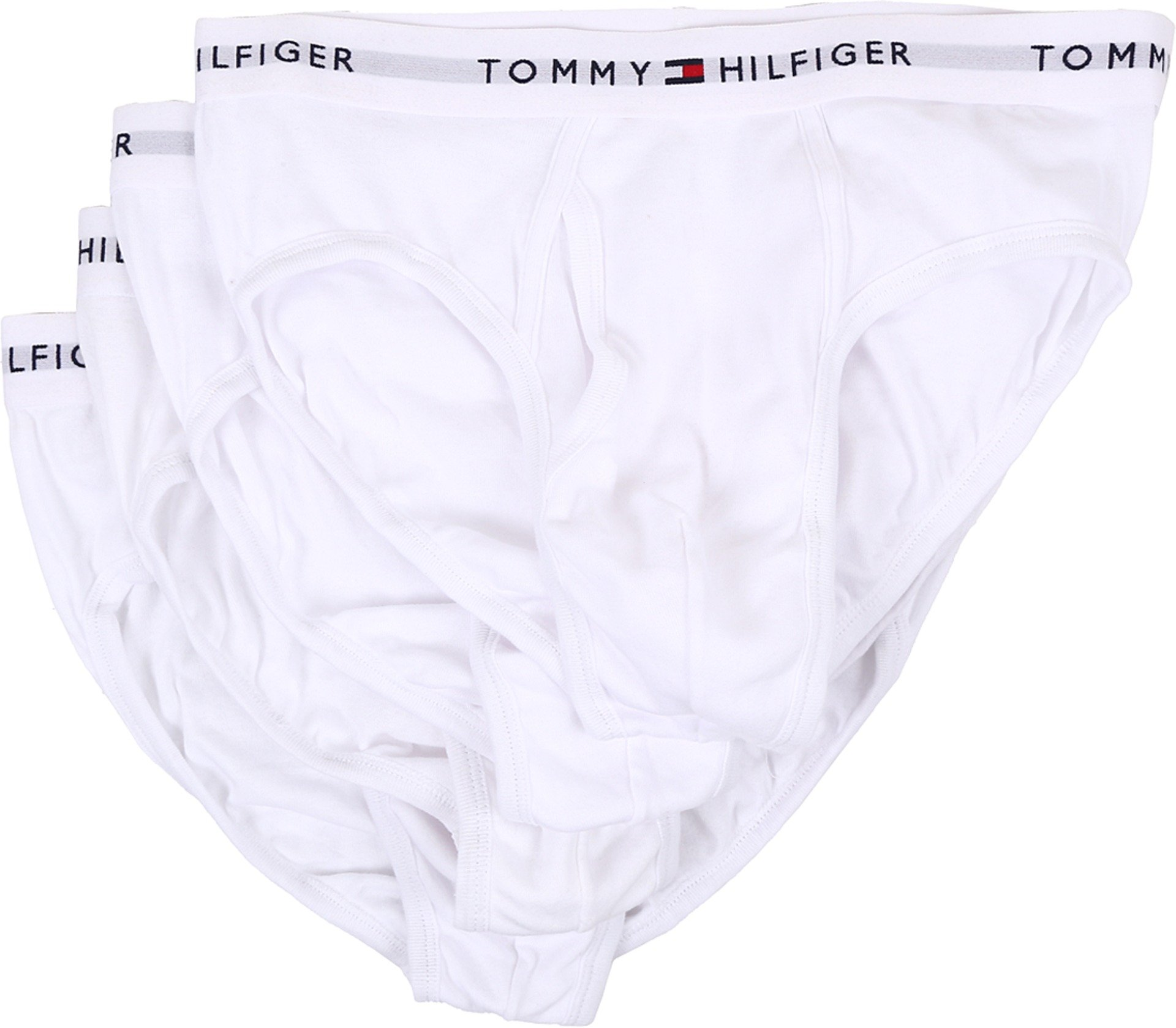 Tommy Hilfiger Men's 4-Pack Cotton Brief, White, X-Large by Tommy Hilfiger