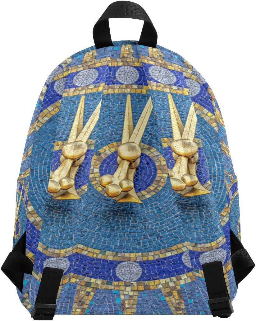 Casual Small Backpack Rucksack Lightweight Camping Bag Bookbag for Boy Girl Clock Tower