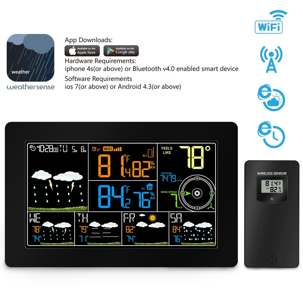 HITSAN INCORPORATION Wireless wifi Weather Station Thermometer