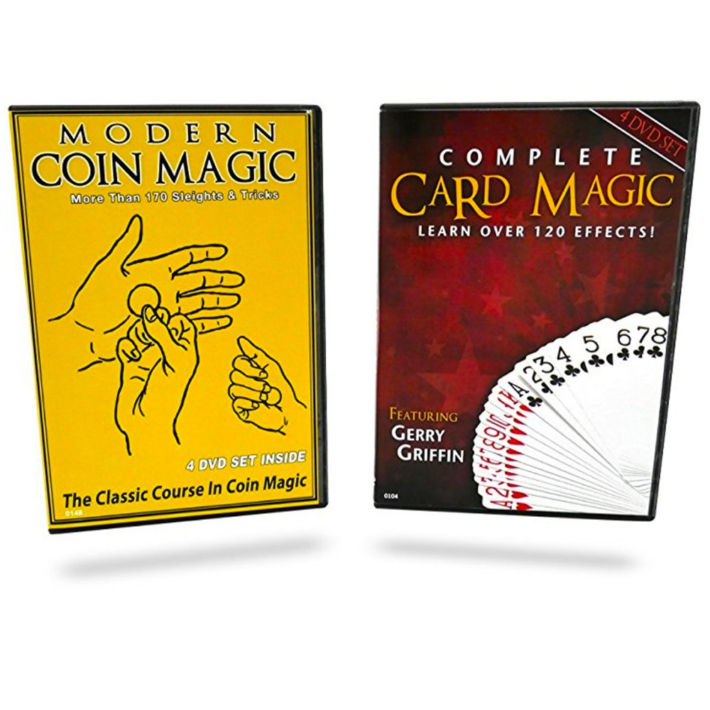 Magic Makers Complete Card Magic and Modern Coin Magic, Ultimate Combo Set, Over 300 Tricks by Magic Makers