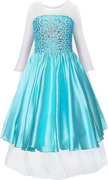 JerrisApparel Fiesta Maxi Vestido de Princesa niña Disfraz Cosplay ...