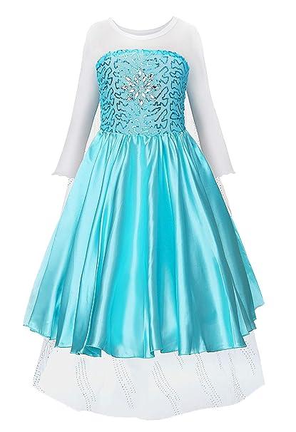 7f773364e10b4 JerrisApparel Snow Party Elsa Dress Queen Costume Princess Anna Girls Dress  Up