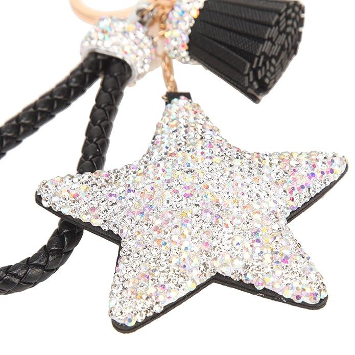 Amazon.com: Bonjanvye - Llavero con forma de estrellas para ...