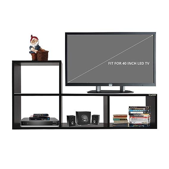 Klaxon Home Decor Wooden TV Stand (Matte Finish, Black): Amazon.in: Home & Kitchen