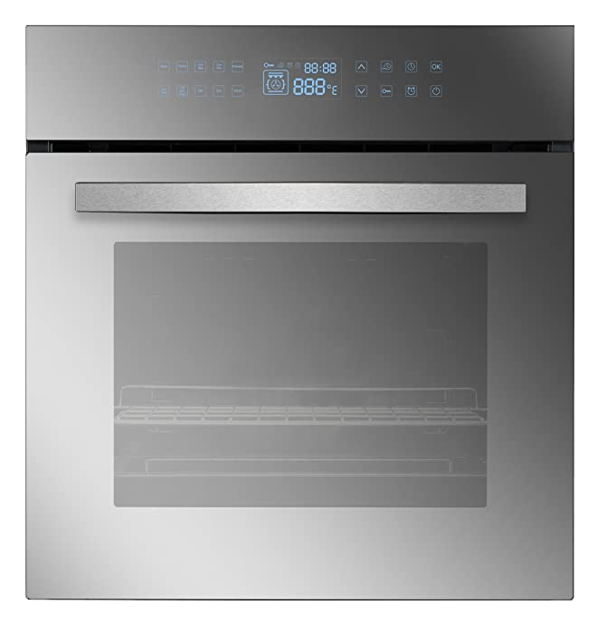 "Empava EMPV-24WOC17LT 24"" 10 Cooking Functions W/Rotisserie Electric LED Digital Display Touch Control Built-in Convection Single Wall Oven"