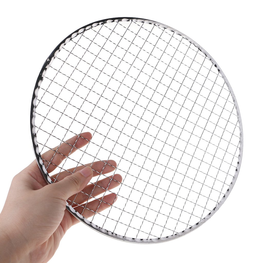 Disposable Grill Barbecue Wire Mesh Round BBQ Barbecue Tool Nonstick Metal Outdoor Grilling Wire Mesh 4 Size