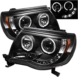 Spyder Auto 5011916 LED Halo Projector Headlights Black/Clear