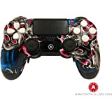 Custom PS4 Controller, AiM Controllers PS4 DualShock 4 PlayStation 4 Wireless Controller - Custom AiM Lucky7 Design with Paddles. Left X, right O