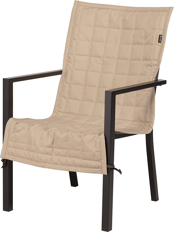 Classic Accessories Montlake FadeSafe Patio Chair Slip Cover, 45 x 20 , Antique Beige