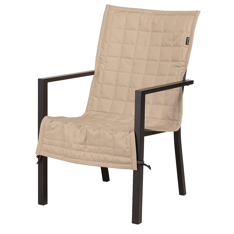 "Classic Accessories Montlake FadeSafe Patio Chair Slip Cover, 45"" x 20"", Antique Beige"