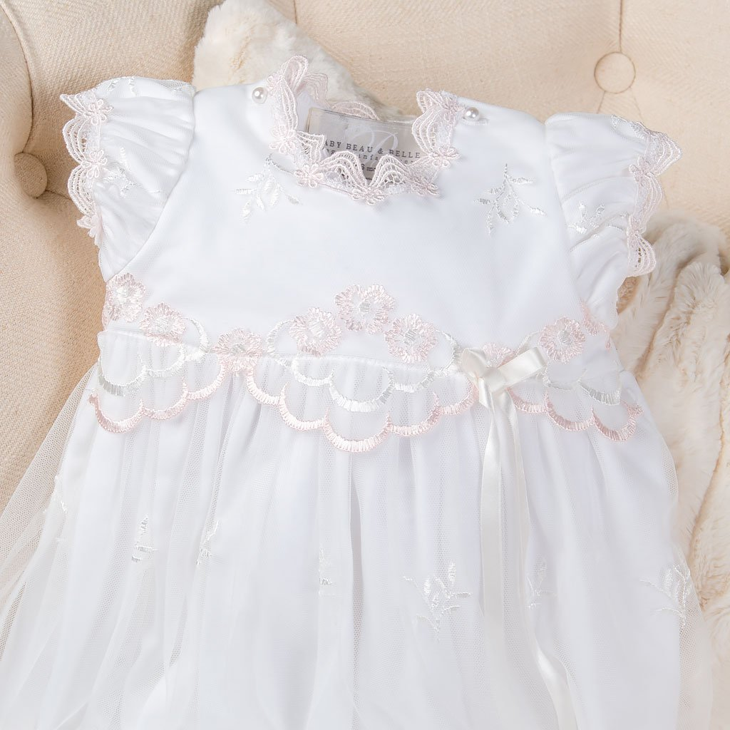 BuyBro Infant Toddler Christening Gowns Dedication Dresses White//Ivory Lace