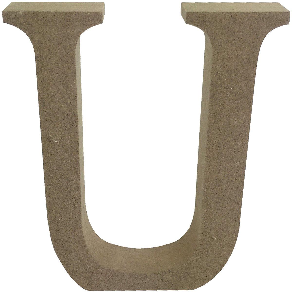 Trimcraft Smooth MDF Blank Shape-Serif Letter U