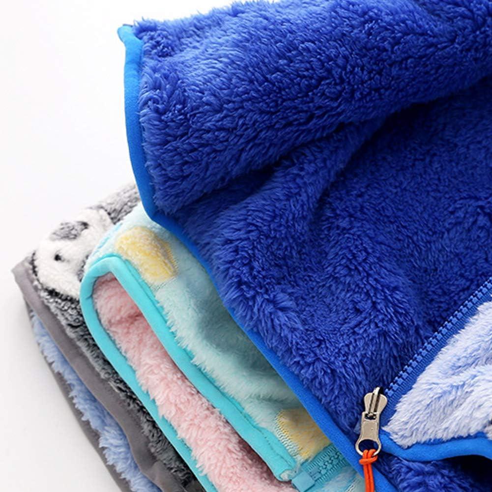 ZETA DIKE Boys Warm Zipper Fleece Vest Soft Winter Sleeveless Jacket Fleece Winter Hooded Zipper Up Waistcoat 2-8T