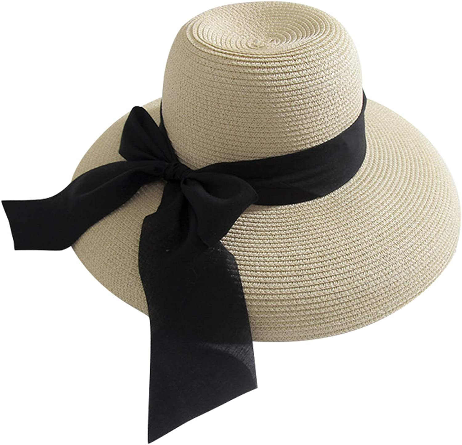 1Pcs Fashion Straw Beach Hat Colorful Derby Large Floppy Folderable For Women