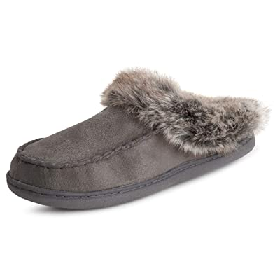 Polar Womens Memory Foam Moccasin Loafer Rubber Sole Anti Slip Durable Winter Indoor Outdoor Slippers | Slippers