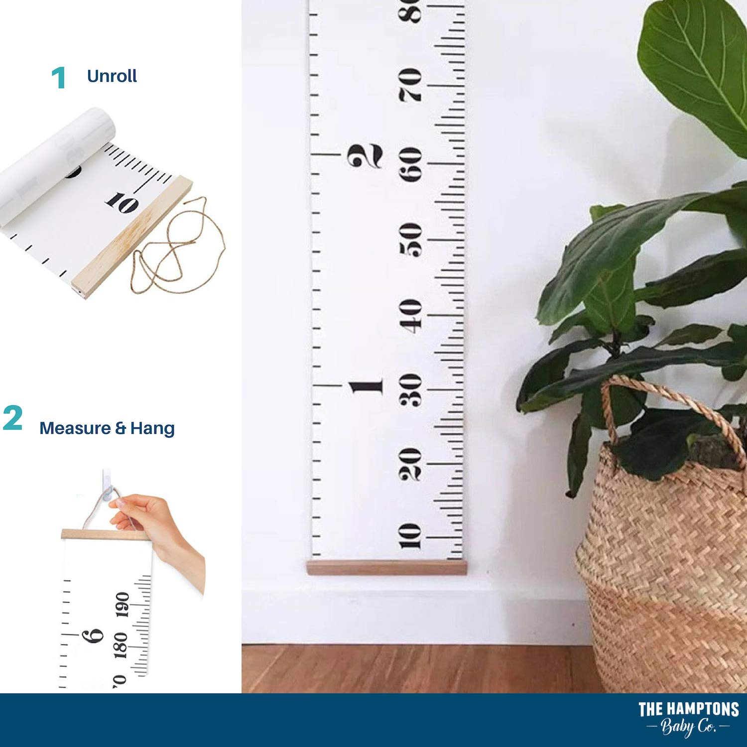 Growth Chart For Kids Canvas Height Measurement Ruler Home Decor