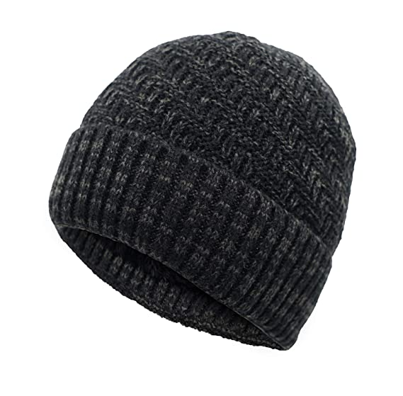 Home Prefer Mens Acrylic Watch Hat Thick Winter Beanie Hat Soft Knit Daily  Beanie Skull Cap 010f50e4177