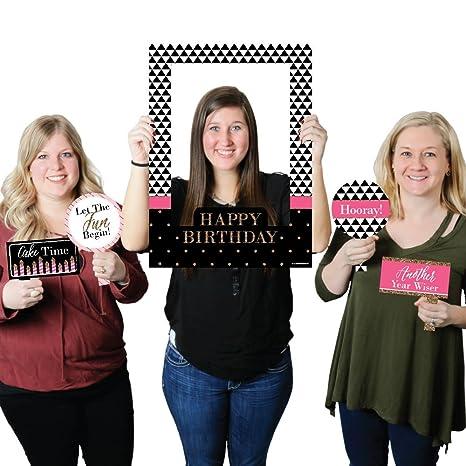 3bb406709b Amazon.com  Big Dot of Happiness Chic Happy Birthday - Pink