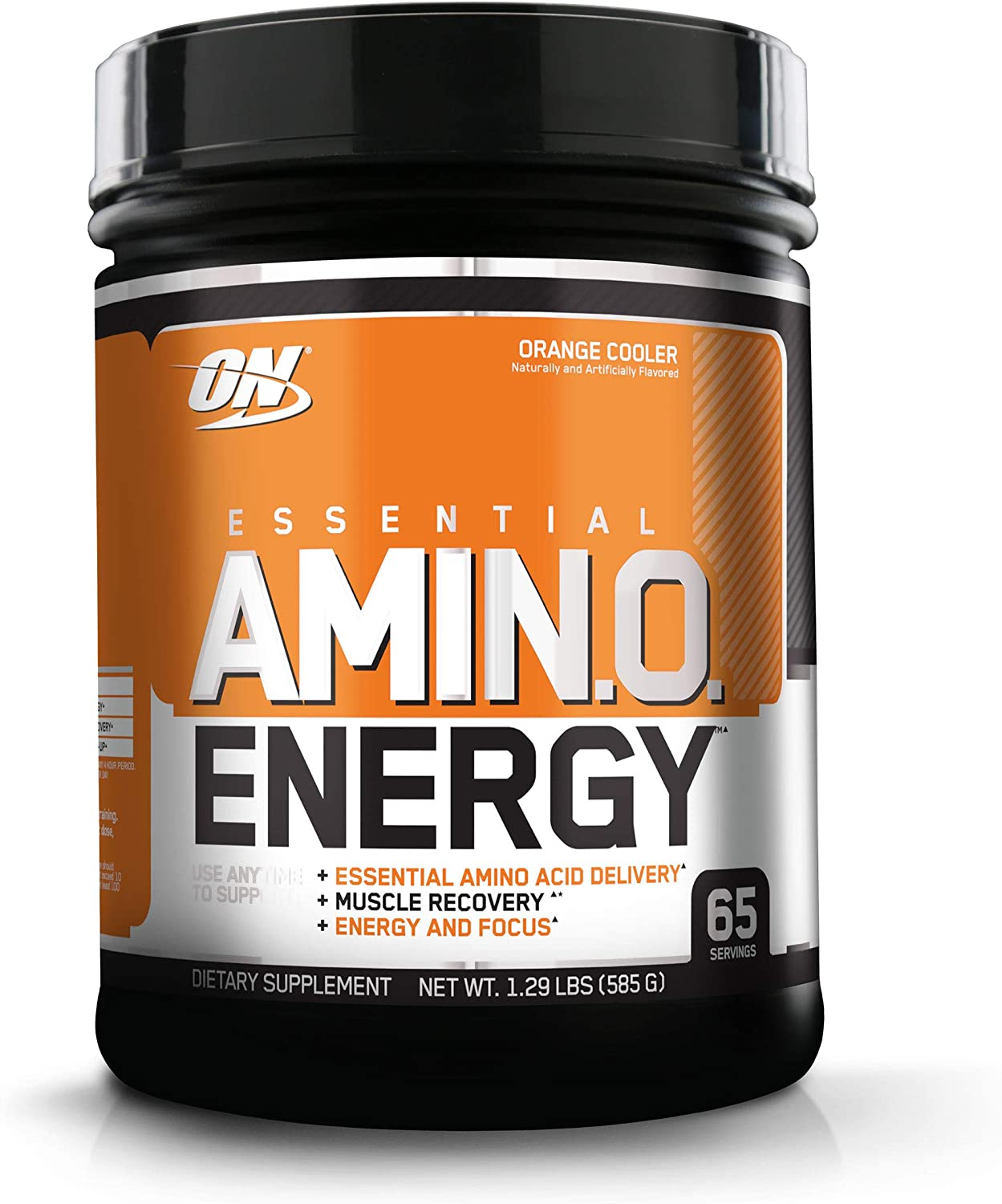 Optimum Nutrition Amino Energy - Pre Workout with Green Tea, BCAA, Amino Acids, Keto Friendly, Green Coffee Extract, Energy Powder - Orange Cooler, 65 Servings: Health & Personal Care