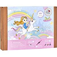 Unicorn Themed Art and Craft Kit for Girls | 3 Chunky Craft Projects | Best Gift for Girls Ages 5 6 7 8 9 10 Years