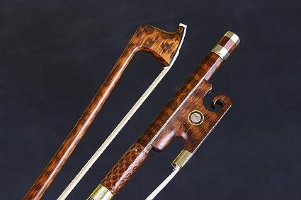 Yinfente 4//4 Full Size Violin Bow Advance Snakewood Professional Violin bow Natural Bow Hair pernambuco Level