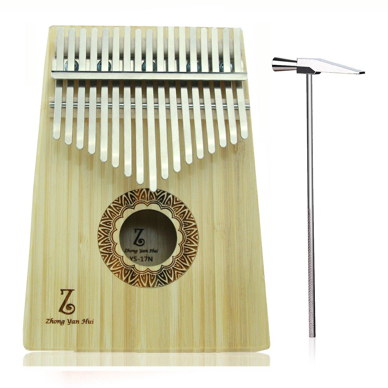 Kalimba 17 Keys Thumb Piano with Instruction and Finger Piano Zhongyuanhui