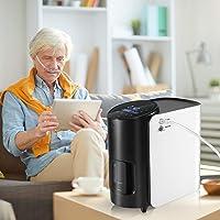 4YANG Zuurstofconcentrator, 93%, 1-7 l/min, hoge zuiverheid, zuurstofmachine, instelbare draagbare zuurstofmachine voor…