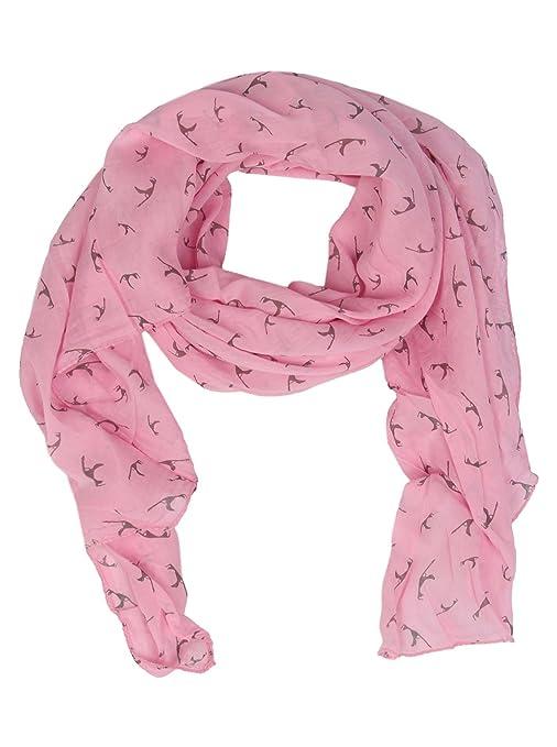 Pañuelo de Seda para Mujer con Sylt de Print de Zwilling Corazón Rosa Talla única : Amazon.es: Ropa y accesorios