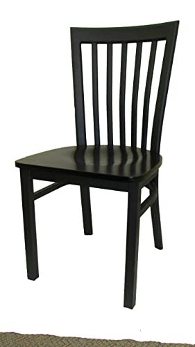 Oak Street Manufacturing SL4279-WB Metal Frame Jailhouse Dining Chair