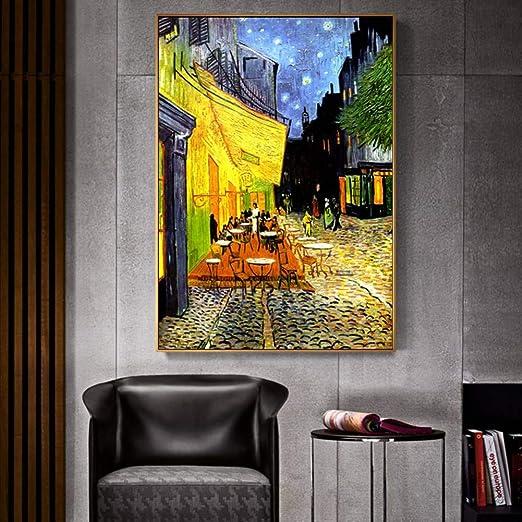 Xnfx Terraza En La Noche Análisis Lienzo Pintura Pintura Al